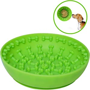 TOPNICES Upgraded Lick Mat Bowl,Dog Slow Feeder Bowls with Suction Cup for Boredom Anxiety Reduction;Bath Time Distractor Toy for Pets,Perfect for Food,Treats,Yogurt,or Peanut Butter