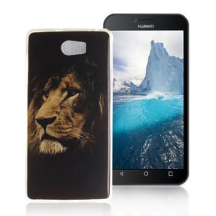 AllDo Funda Silicona para Huawei Y5 II/Y5 2 Carcasa Protectora Caso Suave TPU Soft Silicone Case Cover Bumper Funda Ultra Delgado Carcasa Flexible ...