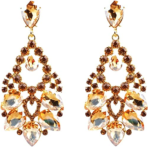 Crystal Chandelier Dangle Earrings Women Girls Earring Wedding Party Jewelry