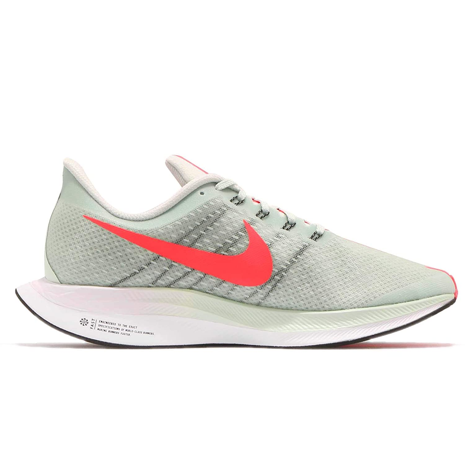 Amazon.com | NIKE Mens Zoom Pegasus 35 Turbo, Barely Grey/HOT Punch-Black, 10.5 M US | Athletic