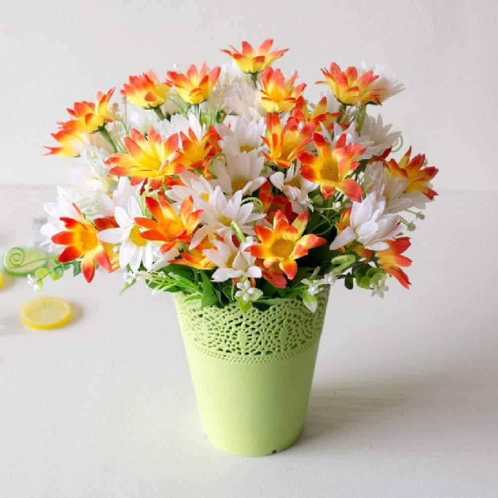 ヨーロピアン造花 シルク 菊 ブーケ 12個 花 One Size オレンジ SDJKL32824430635 B07GK2YN5H オレンジ
