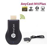 Drahtloser WiFi Anzeigen-Empfänger M9 Plus,1080P verbesserte M9 Plus Unterstützung chromecast Schirm-Spiegel Dongle Digital AV zu HDMI Kompatibel mit iOS/Android/ Mac Windows
