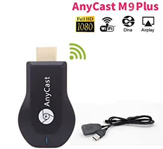 Wireless Wifi Display Receiver M9 Plus , 1080P Upgraded New Edition M9 Plus Support chromecast Screen Mirror Dongle Digital AV to HDMI Compatible with iOS/Android/Samsung/iPhone/iPad/Projector/TV/Mac/Windows