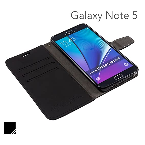 fe7a30167ec7 Samsung Galaxy Note 5 Cell Phone Radiation Blocker and RFID Wallet Case by  SafeSleeve (Black)