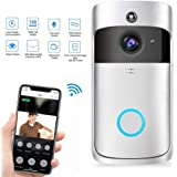 Wifi Smart Doorbell, Wireless Video Camera Doorbell 720P HD Wifi Camera Real-Time Video Two-Way Audio Night Vision…