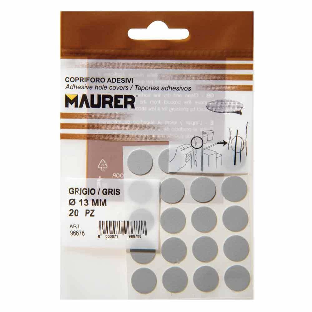 Maurer 5440102 Tapatornillos Adhesivos Gris Blister 20 unidades