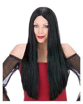 Larga peluca de pelo Negro