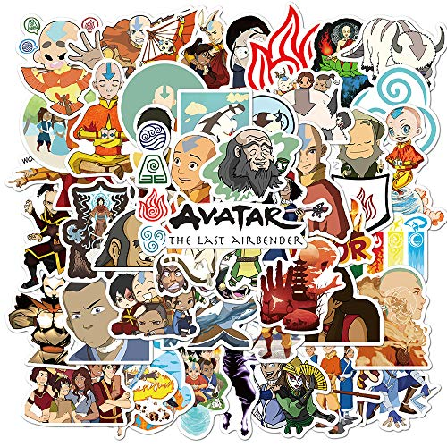 50PCS Avatar The Last Airbender Stickers Aesthetic Anime Pack for Water Bottle Laptop Computer Skateboard
