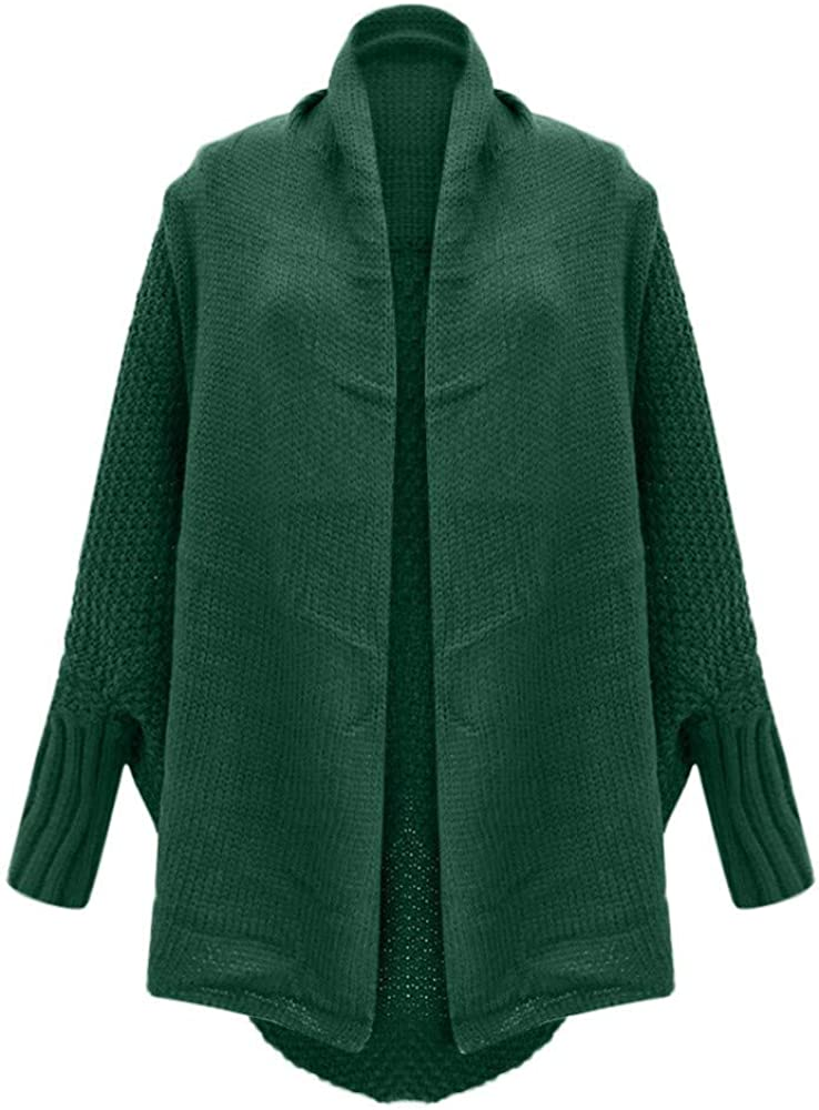 OTTATAT Solid Cardigans for Women,2020 Spring Ladies Simple Color Acrylic Popular Trendy No Button Simple Coats