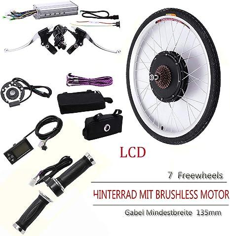 SENDERPICK Kit de conversión de Motor eléctrico para Rueda Trasera de Bicicleta eléctrica, 26 Pulgadas, buje de Bicicleta electrónica con Pantalla LCD, tamaño 48 V: Amazon.es: Deportes y aire libre