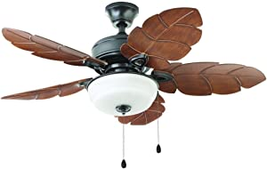 Home Decorators Collection Palm Cove 44 in. Outdoor Natural Iron Ceiling Fan