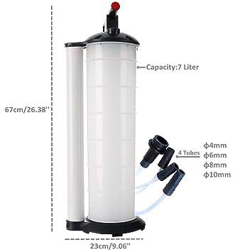 DASBET 7L Extractor de Fluido Manual Cambiador de Aceite Aspirador Operado a Mano Motor Cambio de