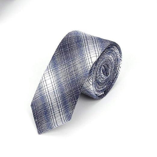 QEHWS Corbata Corbatas De Algodón para Hombres Corbata A Cuadros ...