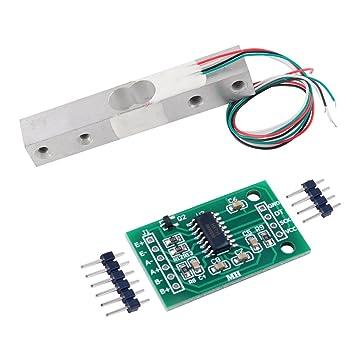 20 kg Sensor de peso Celda de carga Báscula electrónica de cocina + HX711 AD Módulo de pesaje para Arduino WIshiot: Amazon.es: Electrónica
