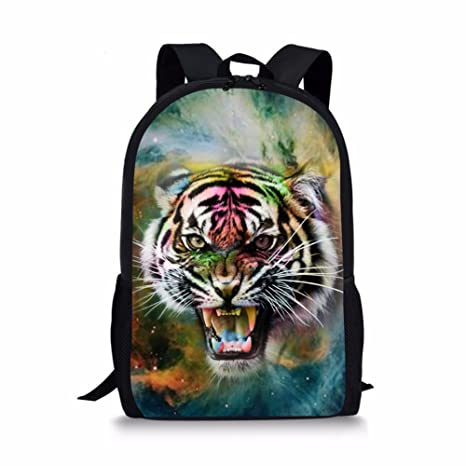 64cfd35a801fd Boy Middle School Backpacks Cool Galaxy Tiger Printed Customized School  Book Bag