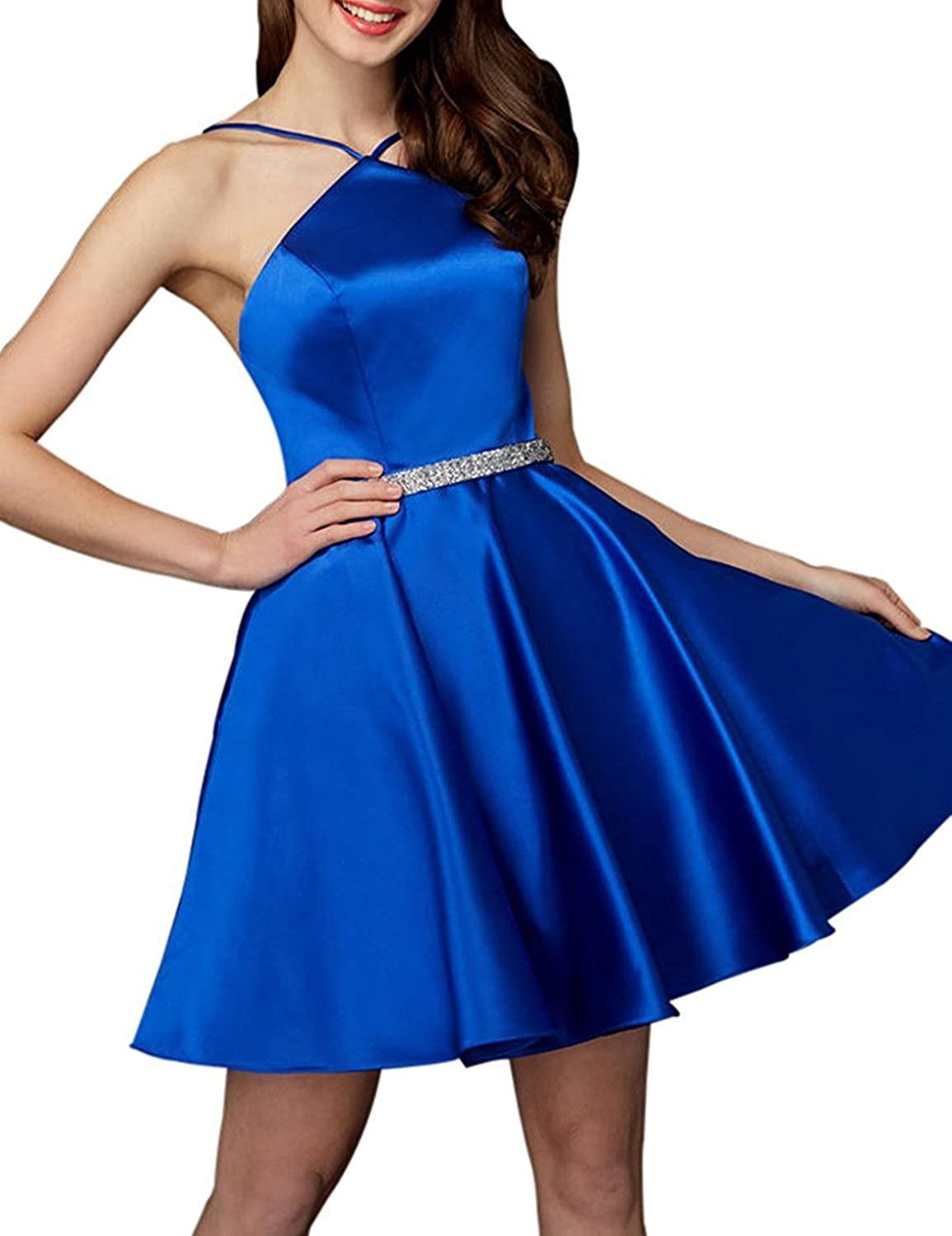 PromC Womens Short 2019 Homecoming Dresses with Pockets Prom Gown H018