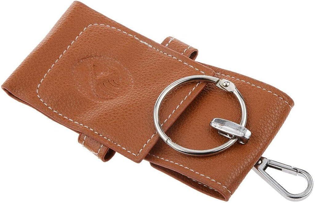 Anime Fairy Tail Cosplay Lucy Heartfilia PU Leather Keychain Holder Bag Pocket
