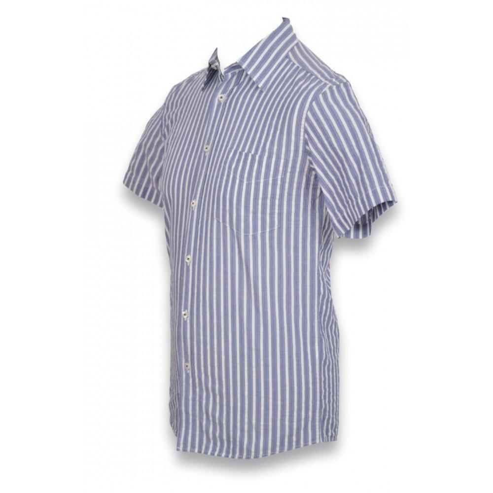 5c254417db599 SULLIVAN-SHOPPING Chemise Homme Manches Courtes Col Bleu - Chemise Homme  Rayée Taille M - M  Amazon.fr  Vêtements et accessoires
