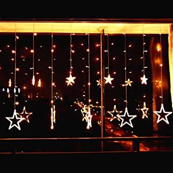 Weihnachten Fenster Beleuchtung | 138 Leds Lichterkette Mit 12 Sterne Elegear Kalt Warmweiss