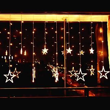 441e8fdbf1b Elegear Guirnalda Luces 12 Estrellas 2m 8 Modos de Flash LED Iluminación de  Ambiente Navidad de