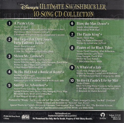 Pirates of the Caribbean - Disney's Ultimate Swashbuckler 10 Song CD Collection