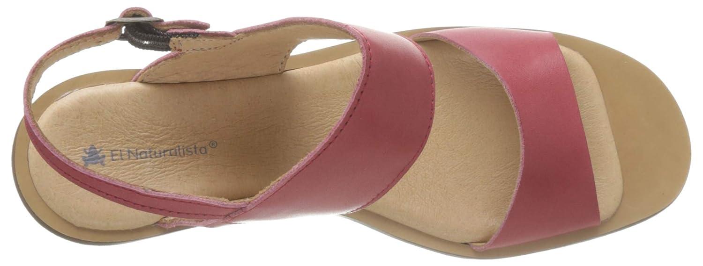 El Naturalista N5154 Vaquetilla Geranio//Trivia Zapatos de tac/ón con Punta Abierta para Mujer