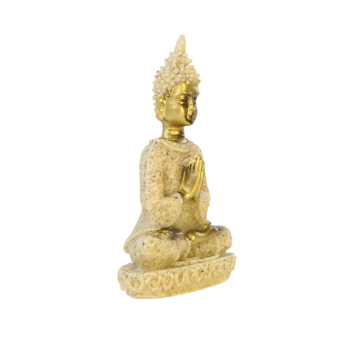 8.5/cm Winterworm Mini Decorazioni Statua del Buddha Seduto