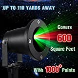 Starry Projector Lights, Glyby Waterproof Landscape Light for Christmas (No remote)
