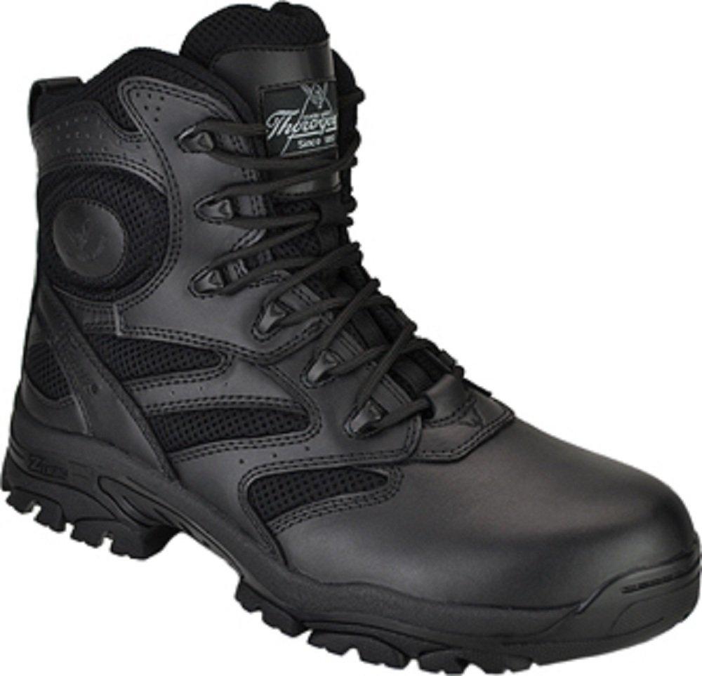 メンズThorogood 6インチLace – Upブーツ B001Y8SYSW 10.5 2E US|ブラック ブラック 10.5 2E US