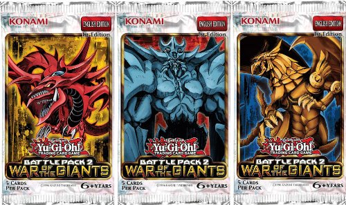 - Konami YuGiOh Battle Pack 2: War of the Giants (1st Edition) Booster Pack