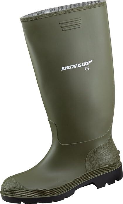 Dunlop - Bottes De Travail (en Caoutchouc, Imperméables À L'eau), Couleur Verte, Taille 35 Eu