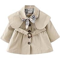 JIANLANPTT Baby Girls' Trench Coat Bowknot Windproof Jacket Outwear