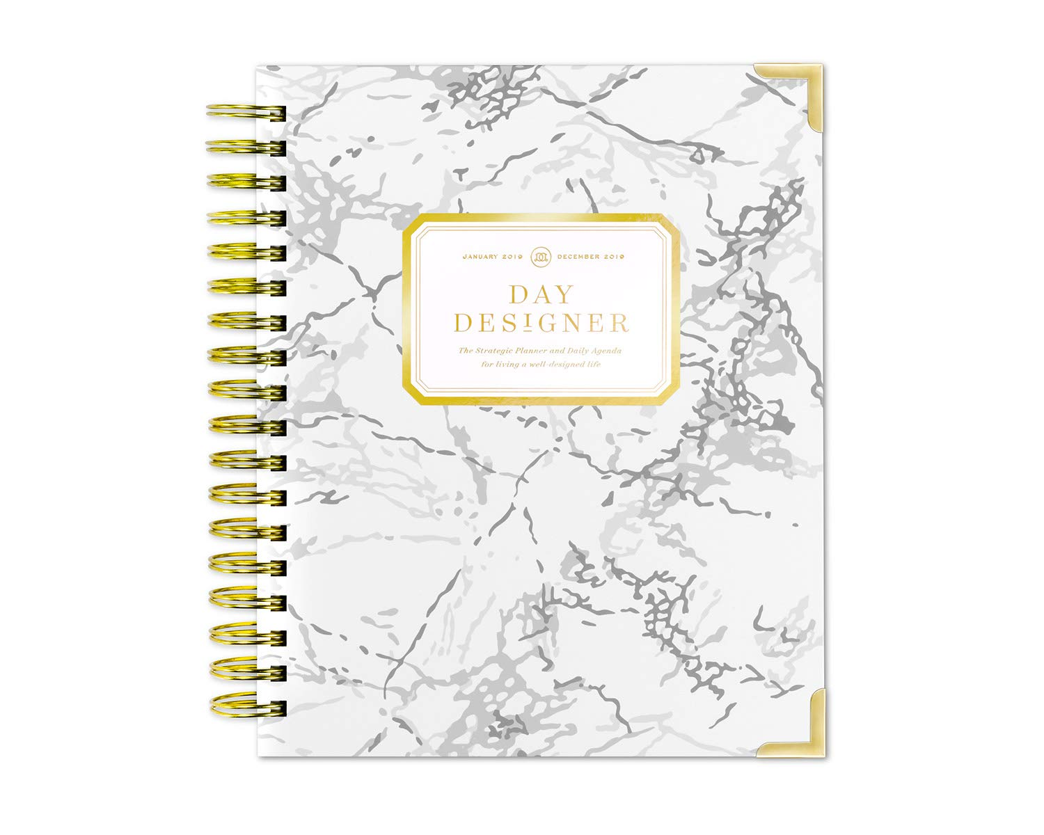 Day Designer 2019 Daily Life Planner and Agenda, Hardcover, Twin-Wire Binding, 9