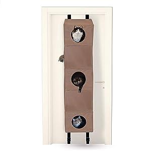 K&H Pet Products Hangin' Cat Condo Tan - Cat Tree that Mounts to Door