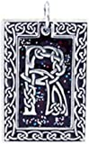 """Dan's Jewelers Celtic Knot Initial Necklace Pendant with Irish Design, Letter """"R"""", Fine Pewter Jewelry"""