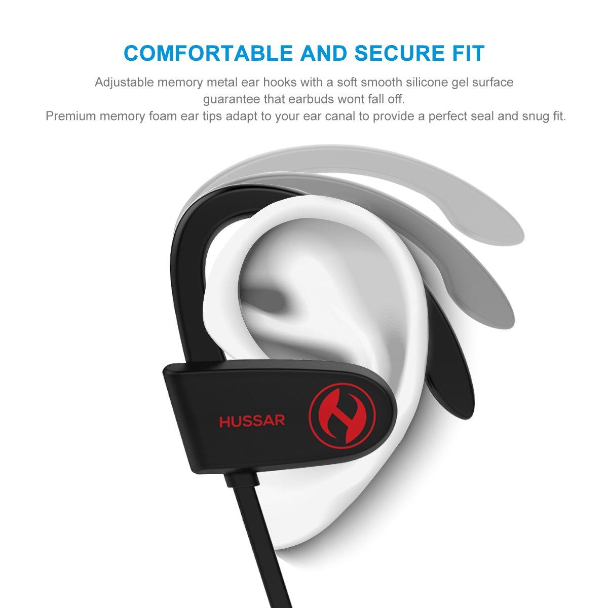 Húsar magicbuds 2 próxima generación Bluetooth auriculares, auriculares inalámbricos deportivos con micrófono, resistente al agua, IPX7 estéreo sonido HD, ...