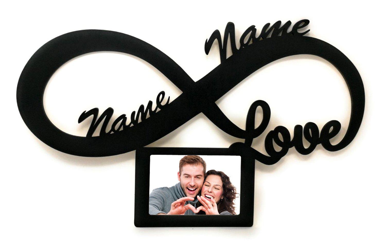 Unendlich Zeichen Love Ich Liebe Dich Geschenk mit Name und Gruß ...