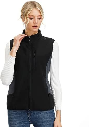 MOHEEN Women's Polar Fleece Vests Full Zippered Sleeveless Softshell Outwear