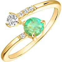 PAVOI 14K Gold Plated Adjustable Created Opal Rings   Stacking Rings   Gold Rings for Women
