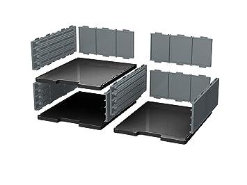 Ablagesystem Ablage Ablagefach styrodoc trio 9 Sortier Fächer schwarz