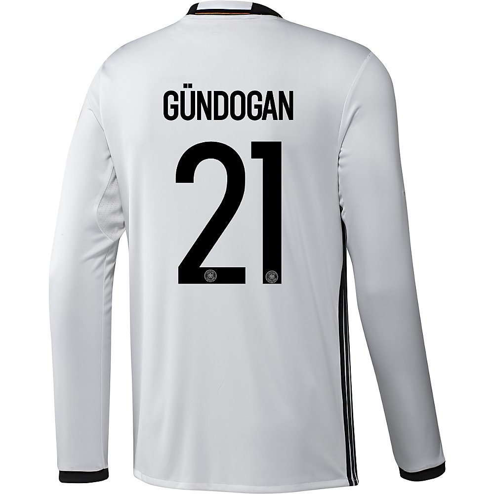 best loved 523fe fce71 Amazon.com: Adidas Gundogan #21 Germany Home Soccer Jersey ...