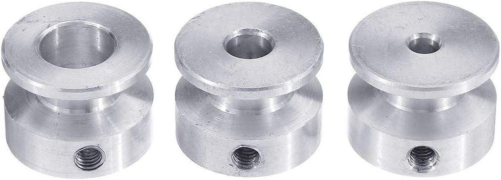 MUZIWENJU 20mm Aluminum Alloy Single Groove Pulley 4//5//6//8//10mm Fixed Bore Pulley Wheel for Motor Shaft 6mm Belt Bore Diameter : 8mm