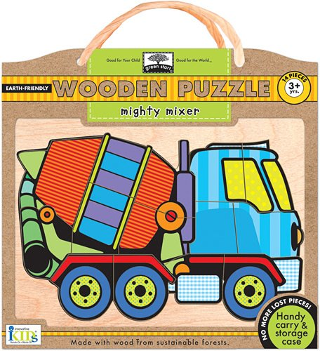Green Start Wooden Puzzles - Innovative Kids Green Start Wooden Puzzles: Mighty Mixer (3Yrs+) Puzzle