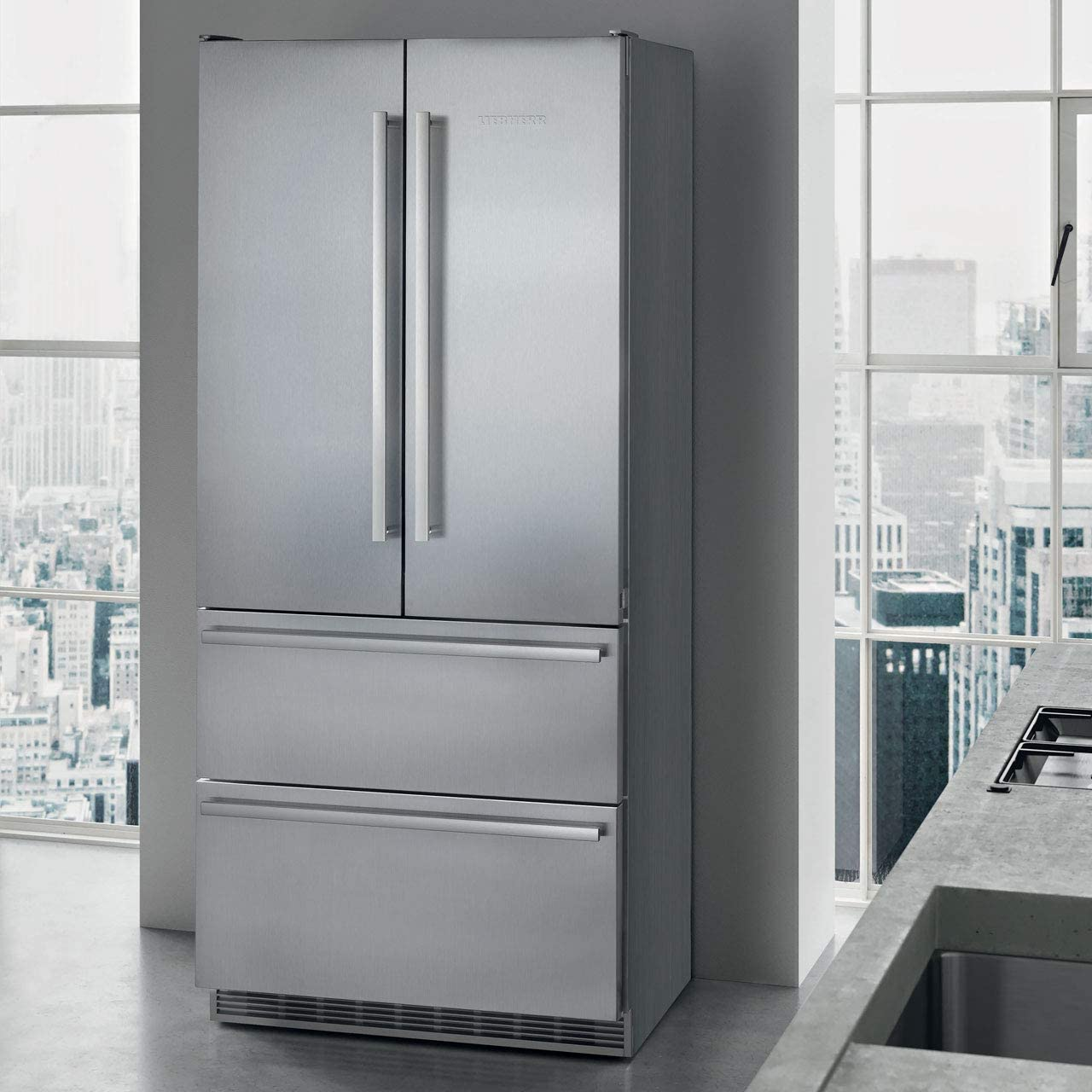 Liebherr CBNes 6256 nevera puerta lado a lado Independiente Acero inoxidable 471 L A++ - Frigorífico side-by-side (Independiente, Acero inoxidable, Puerta francesa, LED, Tocar, Acero inoxidable): Amazon.es: Hogar