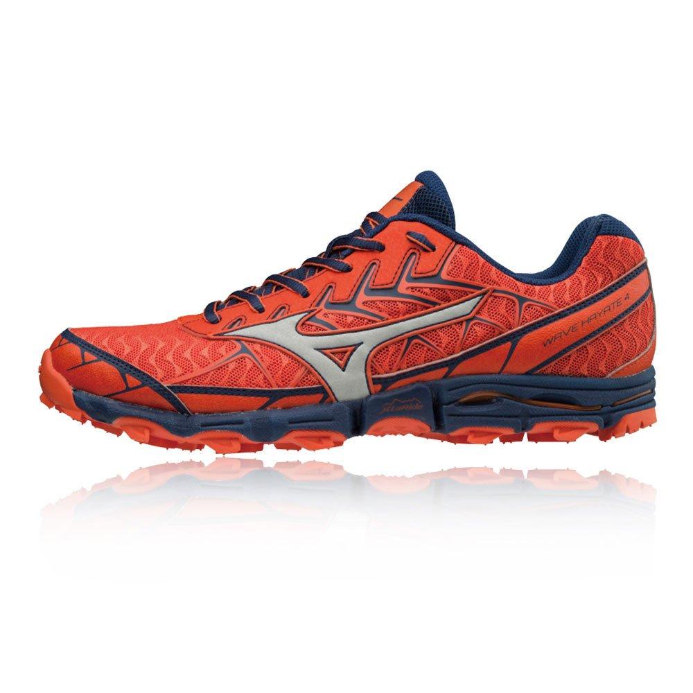 Mizuno Wave Hayate 4, Zapatillas de Running para Hombre 42 EU|Rojo (Cherrytomato/Silver/Estate Blue 04)