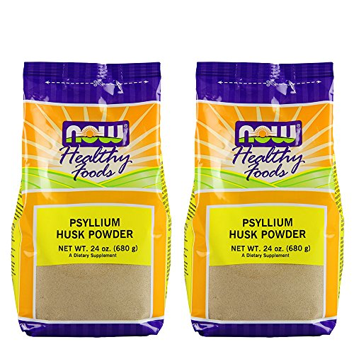 Now Foods Psyllium Husk Powder, 24-Ounce (Pack of 2)