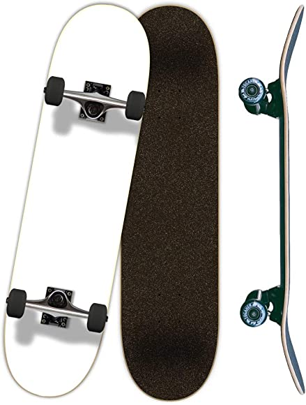 Yocaher Blank, Checker, Camo Pro Complete Skateboard 7.75 w 7Ply Maple Deck, Black Widow Grip Tape, Aluminum Alloy Truck, ABEC-7 Bearing, 54mm Skateboard Wheels