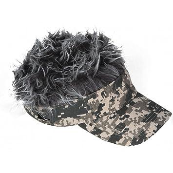 Billy Bob Flair Hair Digital Camo Visor with Grey Hair e837811e12f6