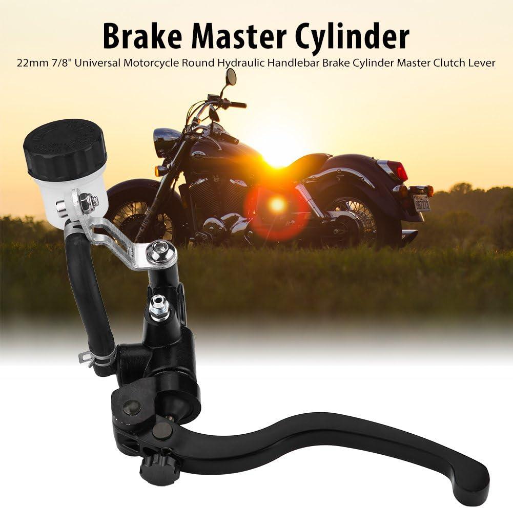 Kimiss 22mm 7 8 Universal Motorrad Runde Hydraulische Lenkerbremszylinder Master Kupplungshebel Links Auto