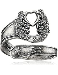 Alex and Ani Womens Fortune's Favor Spoon Ring - Precious Metal